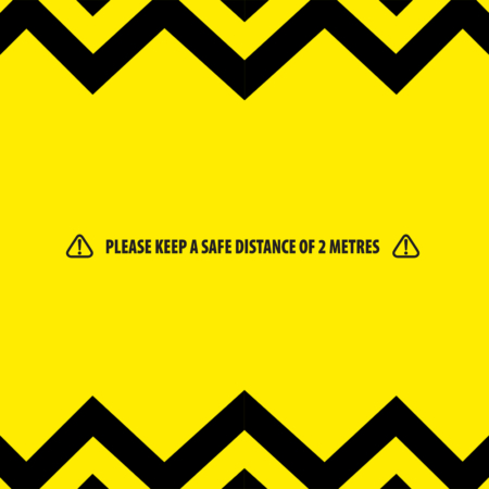 Keep a Safe Distance of 2 Metres
