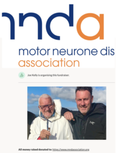 Spencer Kelly, Innova's Sales Director, is raising money for Motor Neurone Disease charity MNDA via Go Fund Me